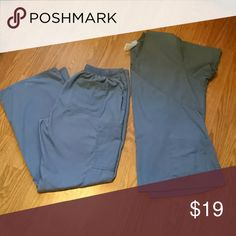 Scrub set Granite scrubs set. Top is L, with short sleeves and 3 pockets. Bottoms are M, with 5 pockets. EUC! Other