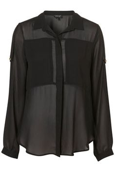 Chiffon Gold Button Shirt - New In This Week - New In - Topshop USA - StyleSays
