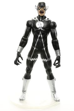 "DC Direct Blackest Night BLACK LANTERN: BLACK FLASH w/ BASE 6.75"" Action Figure #DCDirect"