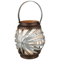 Sunburst Candle Lantern ($60) ❤ liked on Polyvore featuring home, home decor, candles & candleholders, colored lanterns, lighted candles, lighted home decor, lit candle and colored candles