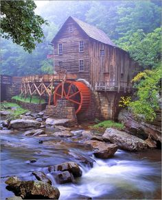 Glade Creek, Grist Mill, Babcock State Park ~ Fayette County, West Virginia •