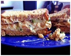 """Chick-Pea """"chicken"""" Salad Sandwich"""