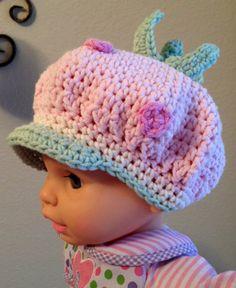 Strawberry Shortcake Inspired Hat  NewbornAdult by fun2make, $18.95