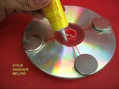 make a generator out of cds and magnets http://www.calgary.isgreen.ca