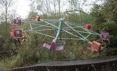 Abandoned amusement park ride.