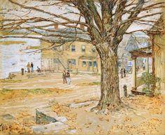 November, Cos Cob - Childe Hassam, 1902