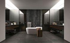 stunning gray bathroom designs white freestanding tub gray tiles