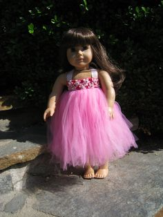 American girl doll clothes, 18-inch doll clothes, American girl doll, American girl doll accessories, doll clothes, satin-tulle dress