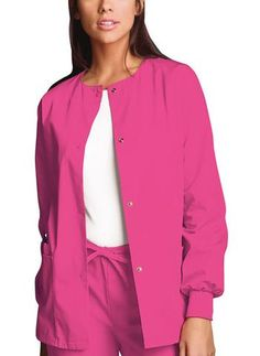 404273a07f3 Cherokee Workwear Jacket Snap Front 4350 - Parker's Clothing & Gifts  Scrubs Uniform, Scrub