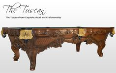Billiards, Pool Tables, Golden West, Tuscan, Maple , Renaissance Design, American Pool Table, Craftmanship, Masterpiece