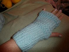 Fingerless glove made on a loom 12-31-12