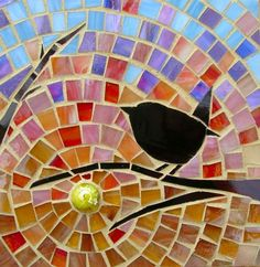 Image result for birds on a branch mosaic
