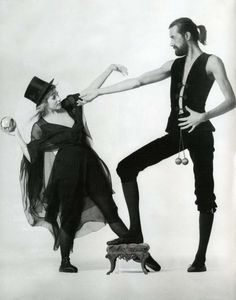 """Stevie Nicks and Mick Fleetwood posing for Fleetwood Mac's """"Rumours"""" 1977 album cover Lindsey Buckingham, Buckingham Nicks, Music Is Life, My Music, Stevie Nicks Costume, Rumours Album, Stephanie Lynn, Stevie Nicks Fleetwood Mac, Female Singers"""