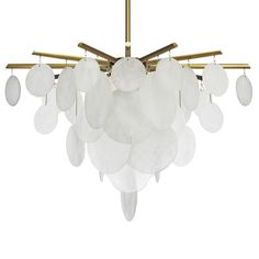 Nimbus Medium Pendant by CTO Lighting. Available in Satin Brass with handmade Glass. Ceiling Lamp, Ceiling Lights, Pendant Lighting, Chandelier, Dining Table Lighting, L And Light, Accent Pieces, Light Fixtures, Furniture Design