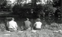 My parents and grandfather, fishing