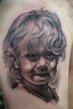 Shane O'Neill tattoo gallery - child's portrait