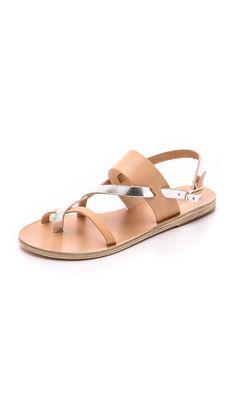 Ancient Greek Sandals Alethea Sandals - Natural/Silver | SHOPBOP.COM saved by #ShoppingIS