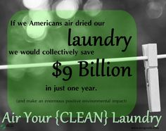 Air Your Clean Laundry, an EcoGoodz blog post