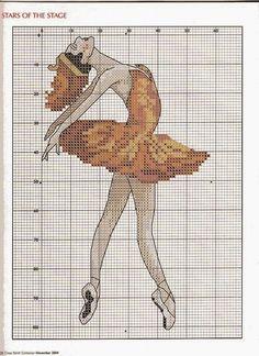 ♥Meus Gráficos De Ponto Cruz♥: Delicadas Bailarinas em Ponto Cruz