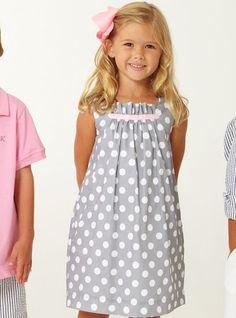 Kids Dress - gathered at the top Toddler Dress, Toddler Outfits, Baby Dress, Kids Outfits, Fashion Kids, Little Girl Fashion, Little Dresses, Little Girl Dresses, Girls Dresses