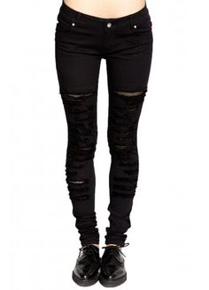 Tripp NYC Tear It Up Fishnet Jeans | Attitude Clothing