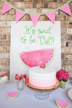 Check out our party finalists for June & vote! This watermelon birthday party is too sweet don't you think?