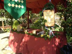 Puestos al aire libre para una boda medieval en #cousogalan