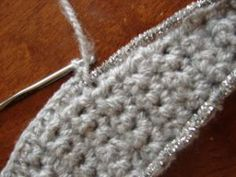 chenille thread pipe cleaner in crochet