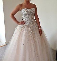 Mori Lee Champagne Ballgown Prom Dress