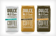 If I saw that white one in the store I would 1) scream 2) buy it 3) set it on my counter to look at everyday. In other words...I like it. Coffee packaging | dulce