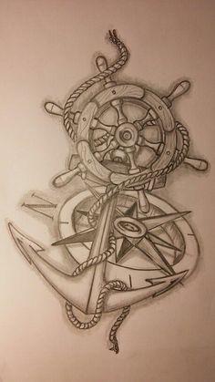 Bildergebnis für sailor compass anchor tattoos
