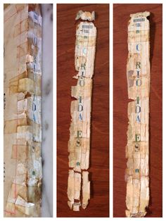Making a puzzle out of a book being restored. Valmiro Rodrigues Vidal