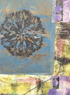 I'm doing an Altered Book workshop, and just finished covering an old Children's Atlas with some of my Gelli Arts scraps. I love how it came out! Here's a photo of the front: (It keeps posting sideways...sorry!)