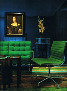 emerald green things   emerald-green-couch-and-chair-january-2013-color-of-the-month-emerald ...