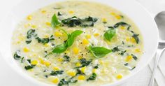 Traditional corn and chicken soup is given a hearty tweak with the addition of pasta and silverbeet.