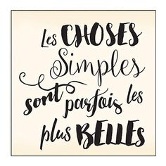 Tampon bois Choses Simples - k L - Pint Best Quotes, Love Quotes, Inspirational Quotes, Positive Attitude, Positive Vibes, Jolie Phrase, Quote Citation, French Quotes, Family Quotes