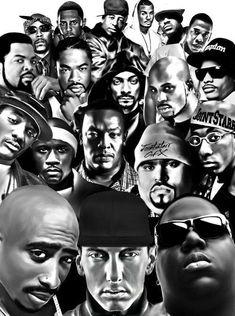 Black and White hip hop rap white black dr dre eminem biggie old school Ice Cube jayz Tupac the game Legends Big Pun dmx snoop dog dj premier snoop lion xibit Hip Hop And R&b, Love N Hip Hop, 90s Hip Hop, Hip Hop Rap, Eminem, Freestyle Rap, Arte Black, Black Art, Hip Hop Artists