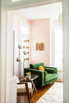 Love This Colour Combination - Pastel Pink With A Deep Green