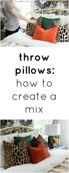 how to mix & match throw pillows like a pro | styling home decor
