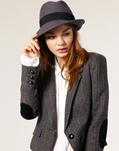 Pieces Rolke Elements Felt Trilby Hat --- so cute Asos Online Shopping, Online Shopping Clothes, Latest Fashion Clothes, Women's Fashion, Hats For Women, Clothes For Women, Trilby Hat, Cool Hats, Fashion Tips For Women