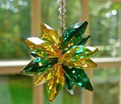 "5"" #Baylor Swarovski Crystal Suncatcher for Dorm or Car (found on Etsy)"