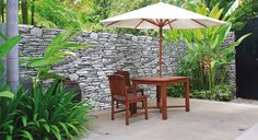 Picture of Wooden furniture covered by umbrella in garden , Thailand. stock photo, images and stock photography. Balcony Design, Garden Design, Extension Plans, Outdoor Walls, Outdoor Decor, Furniture Covers, Wooden Furniture, Stock Photos, Pictures