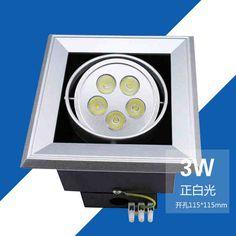 Австралия Кай светодиодные прожекторы Четырёхгранный шип три 5W7W смелая решетка потолочного освещения наивысшей мощности потолка магазин легкой одежды -tmall.com Lynx