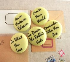 Shop for buttons on Etsy, the place to express your creativity through the buying and selling of handmade and vintage goods. Script, Magnets, Buttons, Inspirational, Create, Fabric, Handmade, Etsy, Tejido