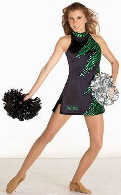 Razor Dress from the Algy Team Collection Senior Cheerleader, Football Cheerleaders, Cheerleading Outfits, Dance Team Pictures, Cheer Pictures, Dance Team Uniforms, Cheer Poses, Cheer Dance, Skate Wear
