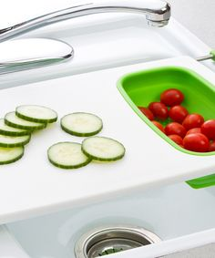 Collapsible Over-the-Sink Colander Cutting Board