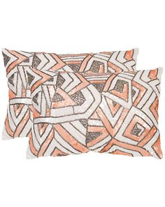 Safavieh  Ricci Set of 2 Embellished Decorative Pillows