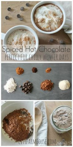 Spiced Hot Chocolate {perfect for chilly winter days}-City Farmhouse #hotchocolate #hotcocoa