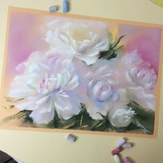 """Nadia Gurkova on Instagram: """"Did this while peonies were still in their prime. Done 4 paintings of one and the same bouquet. This is 2/4 Сделала этот пастельный этюд…"""""""