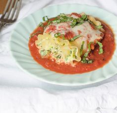 Spinach and Zucchini-Stuffed Lasagna Rolls by Pink Parsley Blog, via Flickr